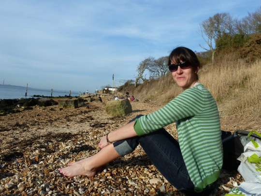 Bryony on the beach