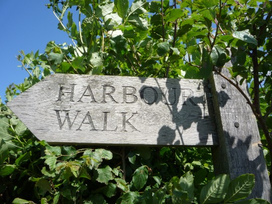 Sign for Newtown Harbour Walk