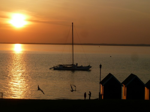 Gurnard, Isle of Wight at sunset