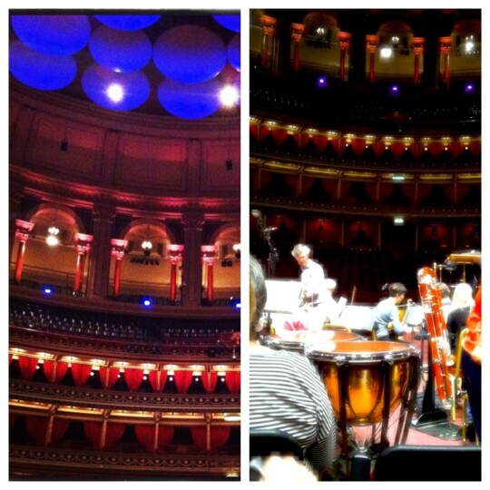 Photo collage of Royal Albert Hall rehearsal