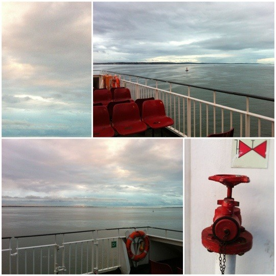 Collage of Red Funnel Ferry photos