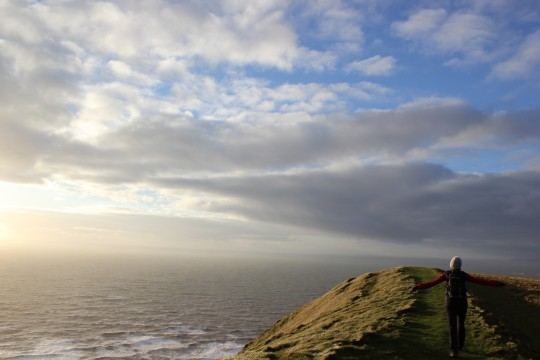 Bryony on a cliff's edge