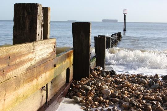 Sea pilings, Shanklin Isle of Wight
