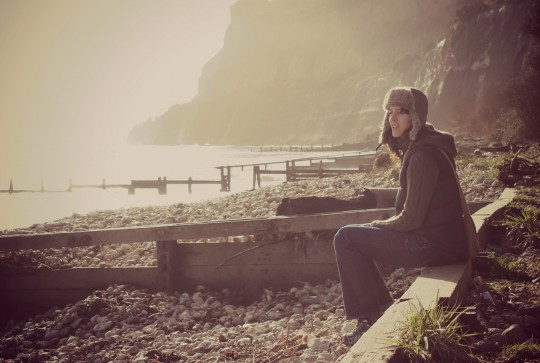 Bryony watching the sea