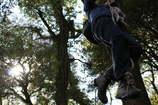 Tom on a rope swing