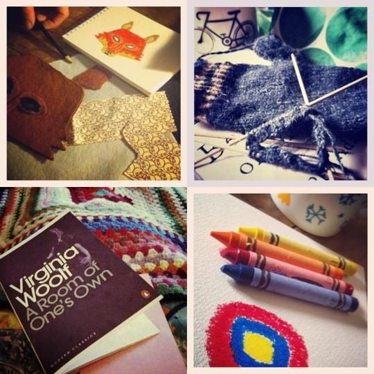 Craft photo collage