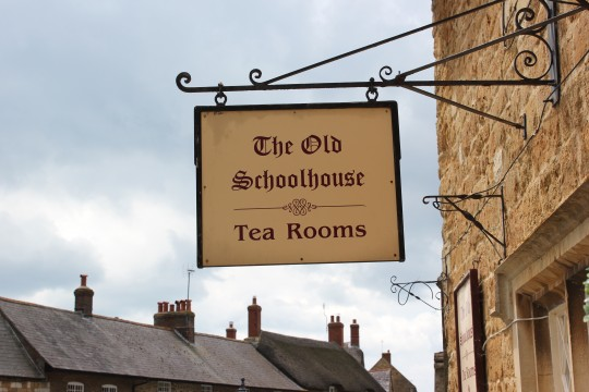 The Old Schoolhouse Tea Rooms sign