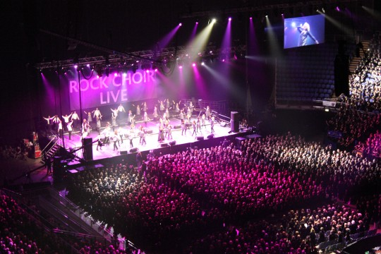 Rock choir singing at the O2 Arena July 2013