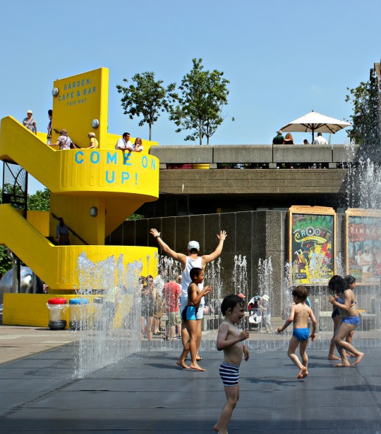 Fountains at London's Southbank