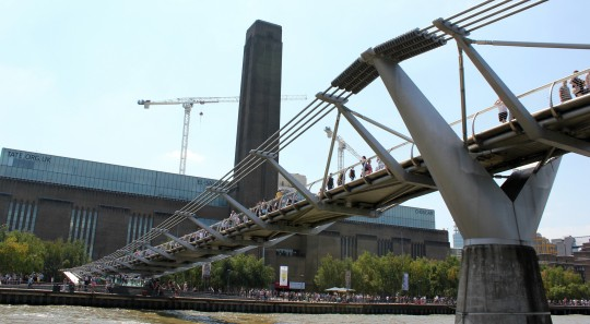 View of Tate Modern from the Millennium Bridge, London