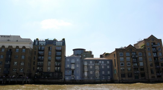 View of Winchester Wharves, London from the water