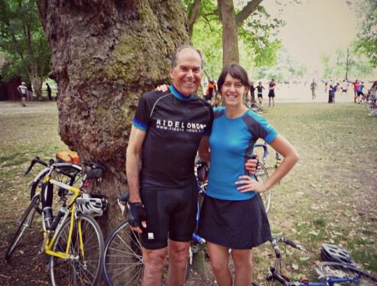 Derek and Bryony at London Fields: Start of Dunwich Dynamo