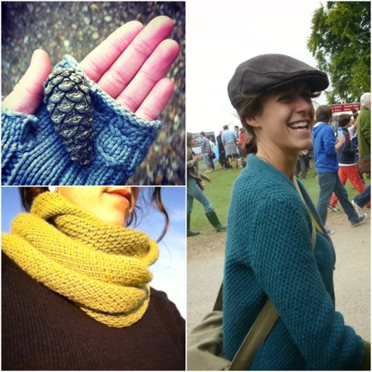 Knitted accessories photo collage