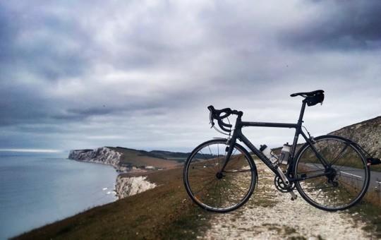 Bike on Freshwater Down, Isle of Wight