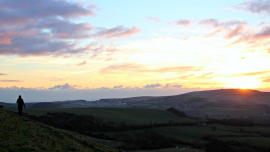 Isle of Wight landscape at sunset