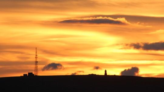 Pepperpot at sundown, Isle of Wight