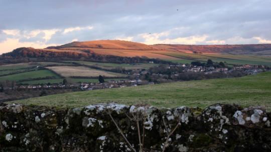 Wroxall landscape view