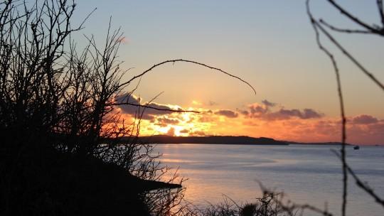 Sunrise across the water