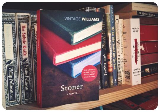 Stoner book on a shelf