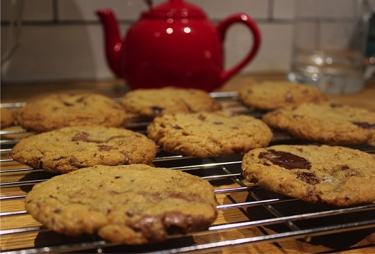 Cookies and teapot