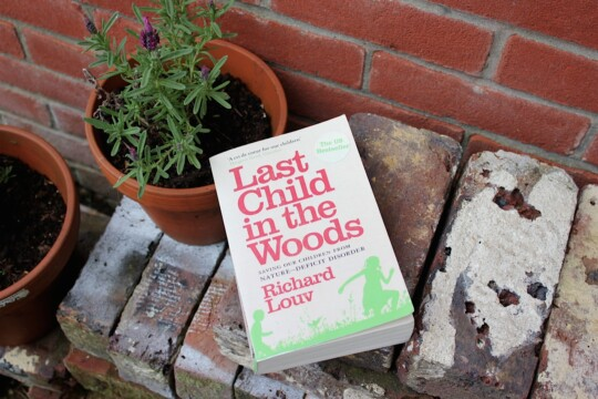 Last Child in the Woods book outside