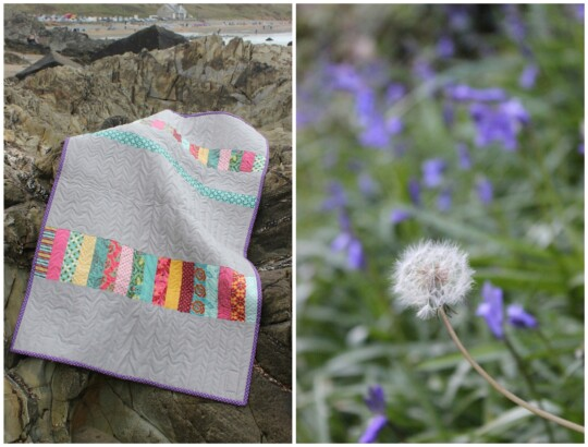 Quilt and dandelion photo collage