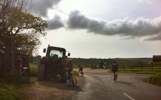 Tractor at Hunyhill junction