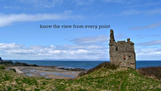"""Foofandfaff beach with the text """"know the view from every point"""""""