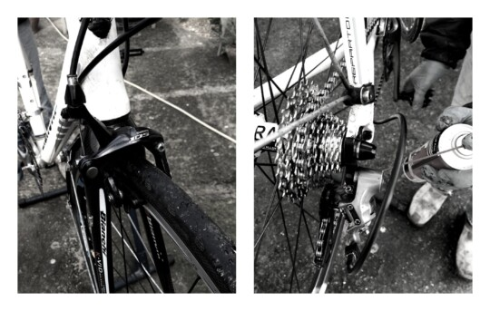 Parts of bicycle photo collage