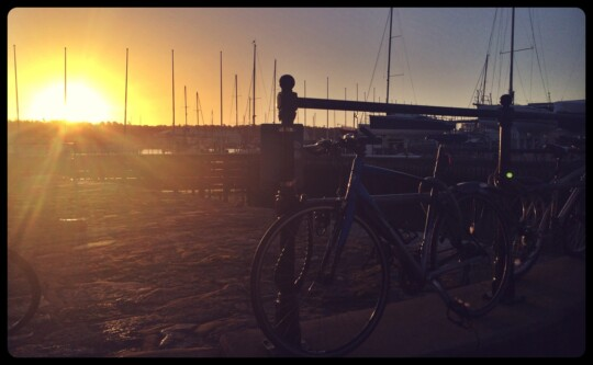 Bikes by Cowes Harbour, Isle of Wight