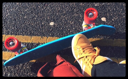 Rusty's foot and penny board