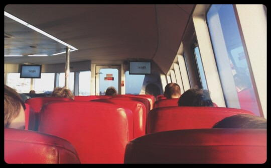 View from the seats inside Red Jet ferry