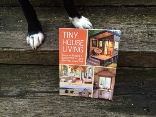 Tiny House Living book on steps