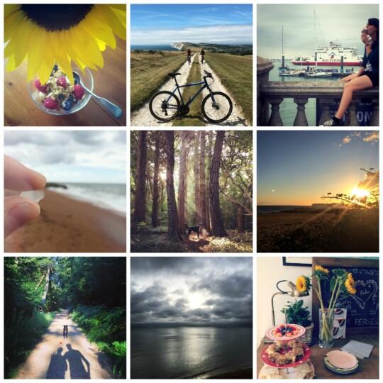 Summer holiday snapshots photo collage